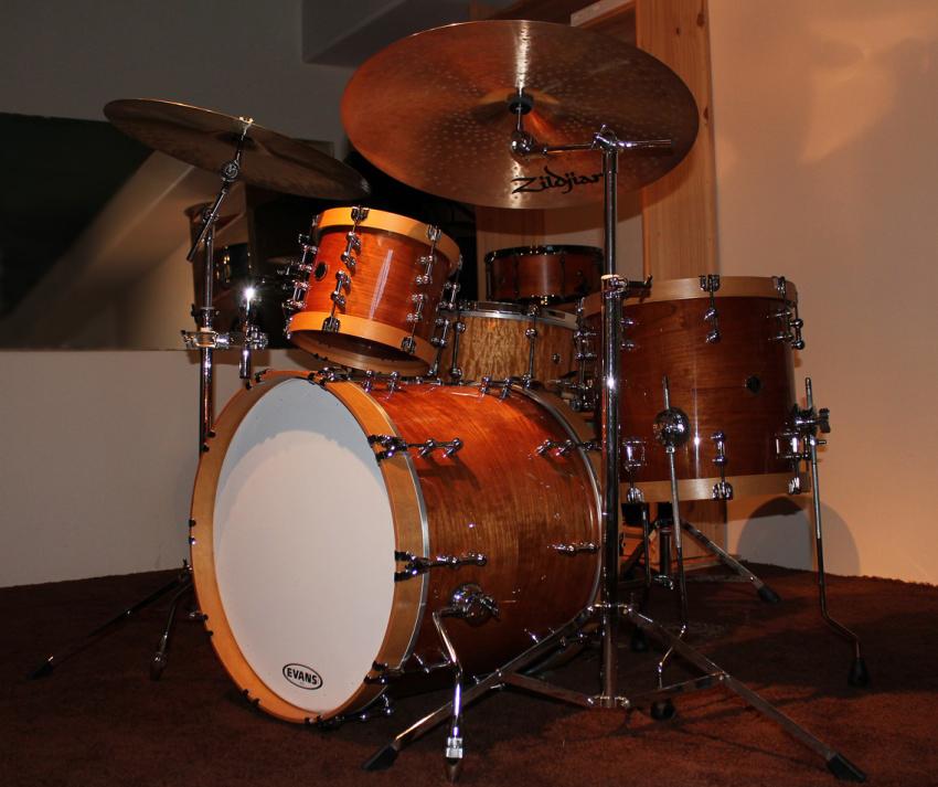 Solid steam bent cherry drum kit