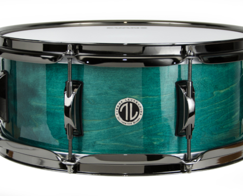 Solid maple snare drum